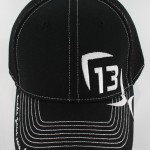 "13 Fishing ""The Professional"" Black Fitted Hat"