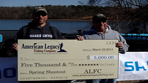 1st Place Finishers David Young & Marty Johnson Holding Their $5,000 Check