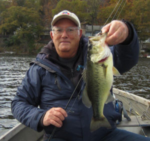 Barry Battista says this fine largemouth was caught on Glenwild Lake in New Jersey on the last trip of the season. What a great way to close the season out!