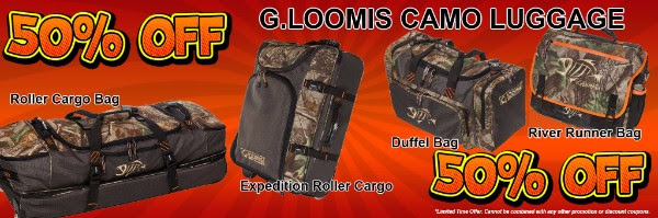 50% OFF G. Loomis Camo Luggage