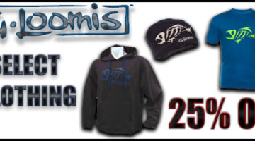 25% OFF Select G. Loomis Clothing
