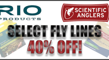 40% Off Select Fly Lines From Rio and Scientific Anglers