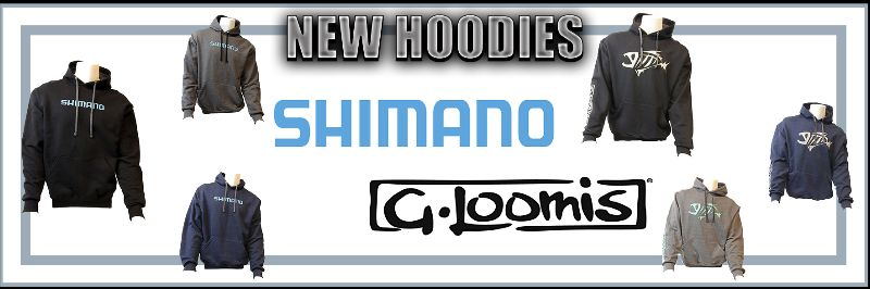 New Hoodies from Shimano and G. Loomis