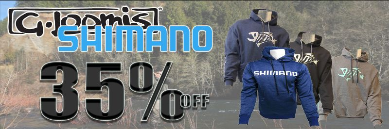 35 Percent Off Shimano and G Loomis Apparel
