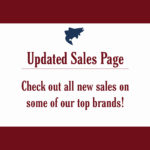 Updated Sales Page - Check Out All New Sales on Some of Our Top Brands