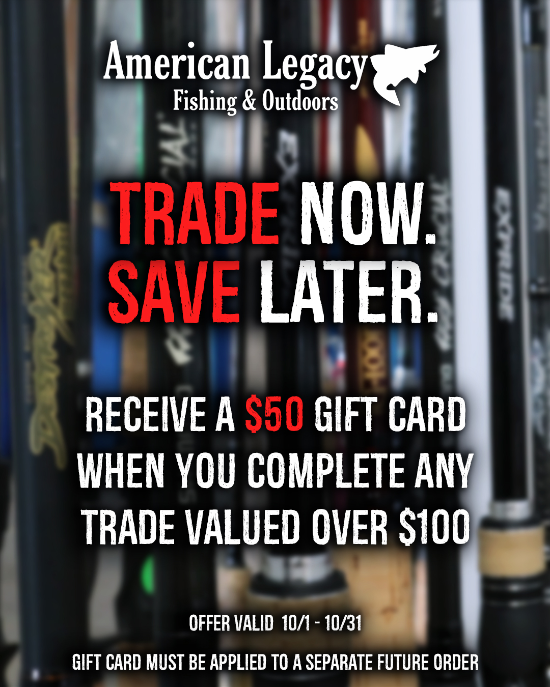 Trade Now Save Later